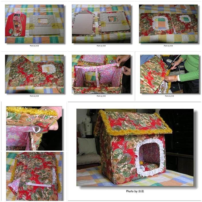 Diy Beautiful Foldable Dog House 1 Diy Dog Bed Beautiful Dog Beds Pet Diy Projects
