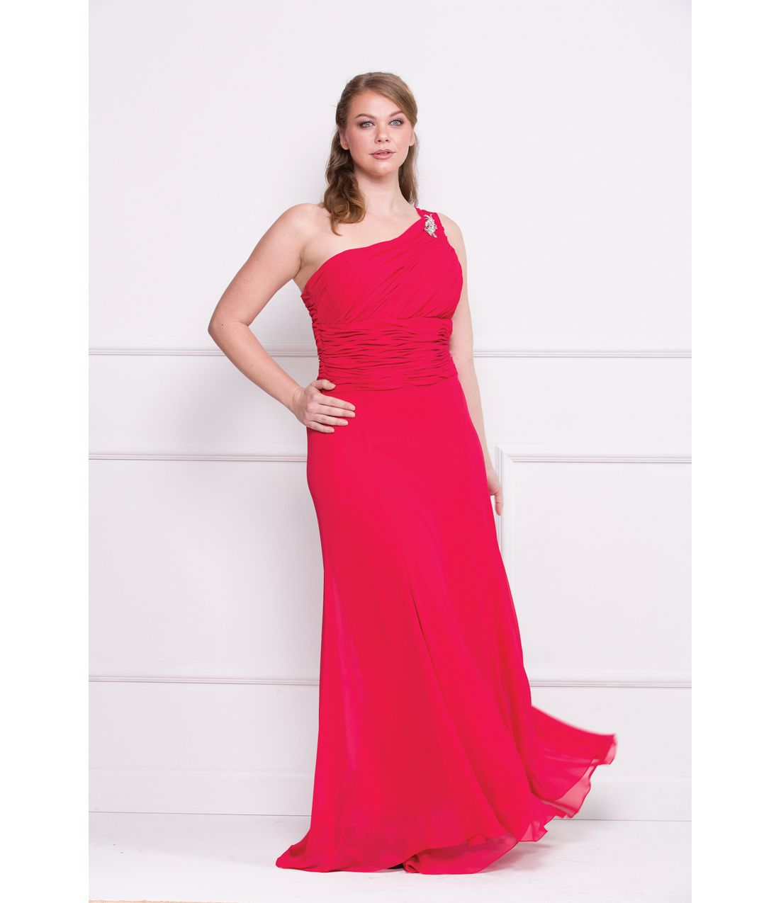 Plus size homecoming dress prom dresses red one shoulder
