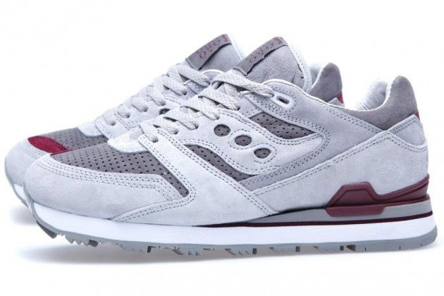 ce18d4659a47 Kicks  White Mountaineering x Saucony Courageous - Grey Dark Red ...