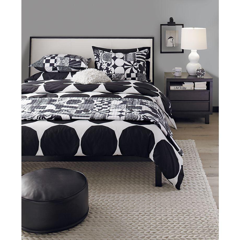Marimekko Yhdessa Black Bed Linens In Quilts Coverlets Crate And Barrel Bpj Bedr Scandinavian Design Bedroom Contemporary Bedroom Furniture Bedroom Design