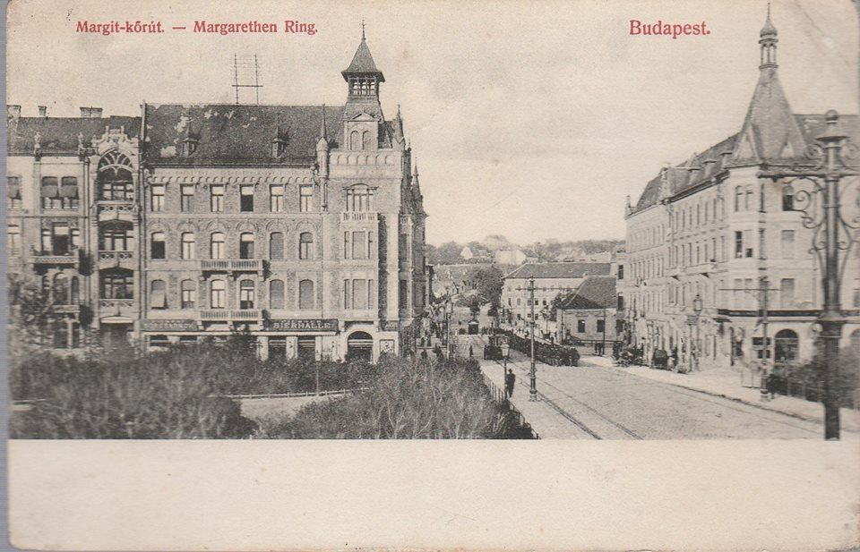 Margit híd budai hídfő 1890 körül