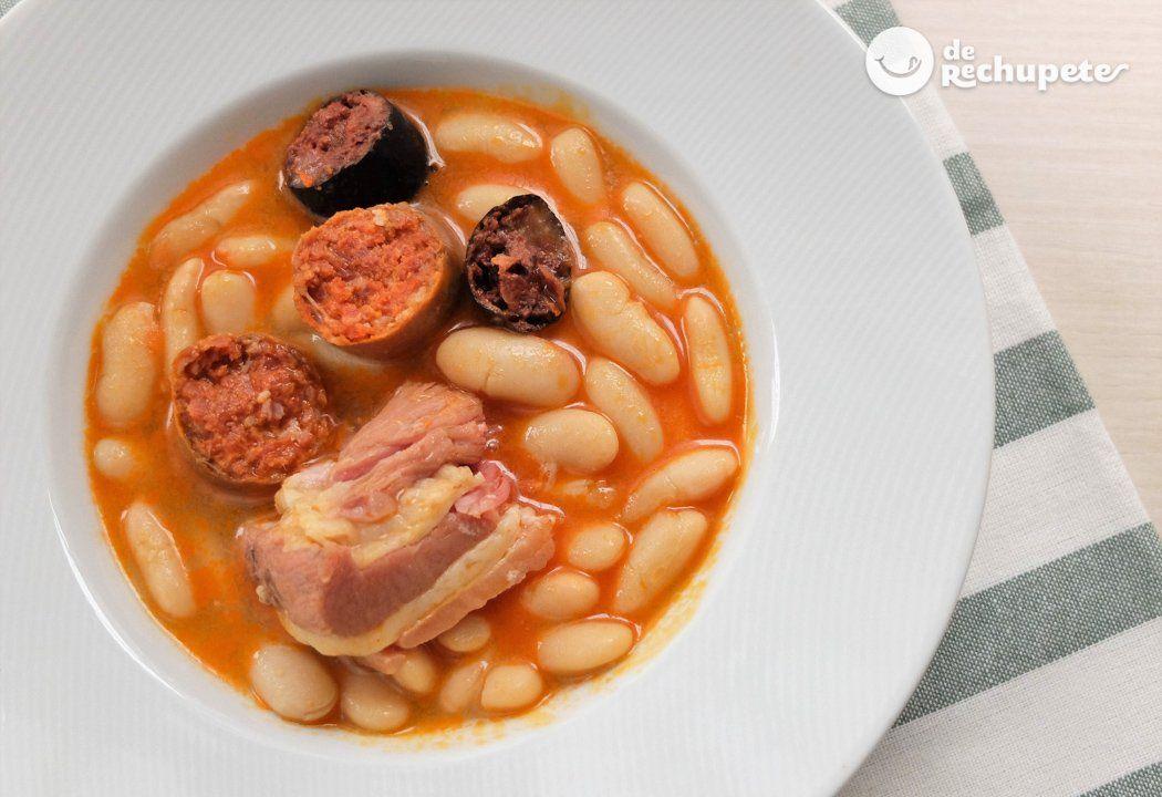Fabada O Fabes Asturianas Receta Tradicional Asturiana Receta Fabada Asturiana Cocina Espanola Recetas De Guisos