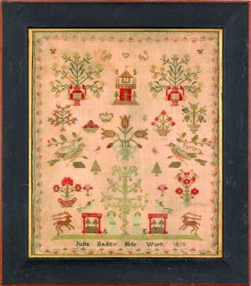 100 Things: Day One -- Antique Samplers