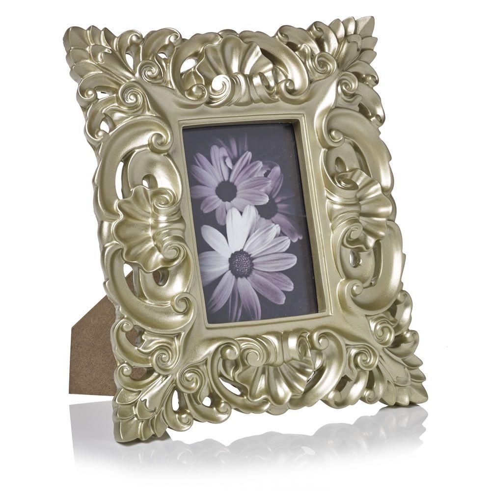 Wilko baroque mirror silver 87x62cm - Wilko Baroque Frame Gilver At Wilko Com