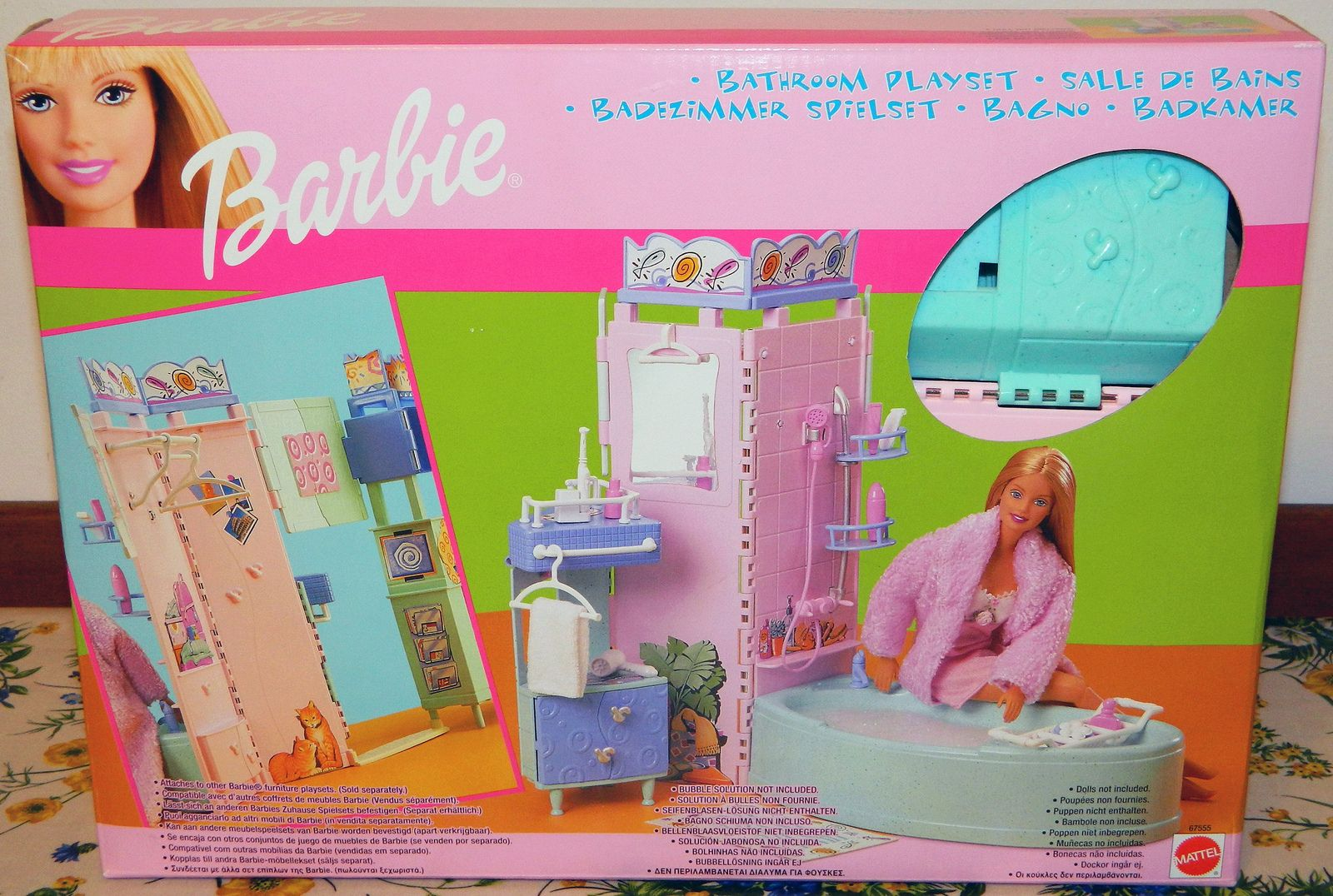 Barbie Bathroom Playset 2000 Box Front Barbie Toys Barbie