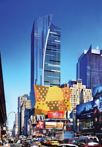 This 45 Story Tower Is One Of New York Citys Architectural Masterpieces Set On Times Square Visitors Have In New York Travel Pet Friendly Hotels Times Square