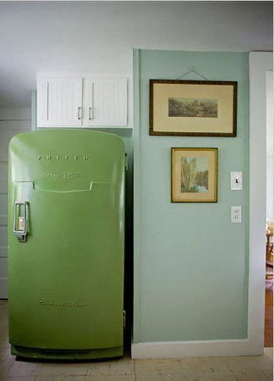 Color in the Kitchen Lively Refrigerators Stylish