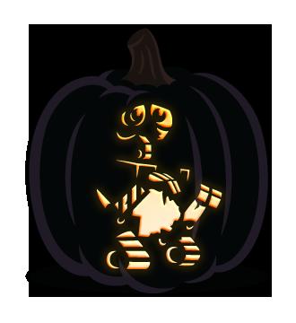 wall-e pumpkin template  WALL-E pumpkin carving pattern | Pumpkin stencil, Pumpkin ...