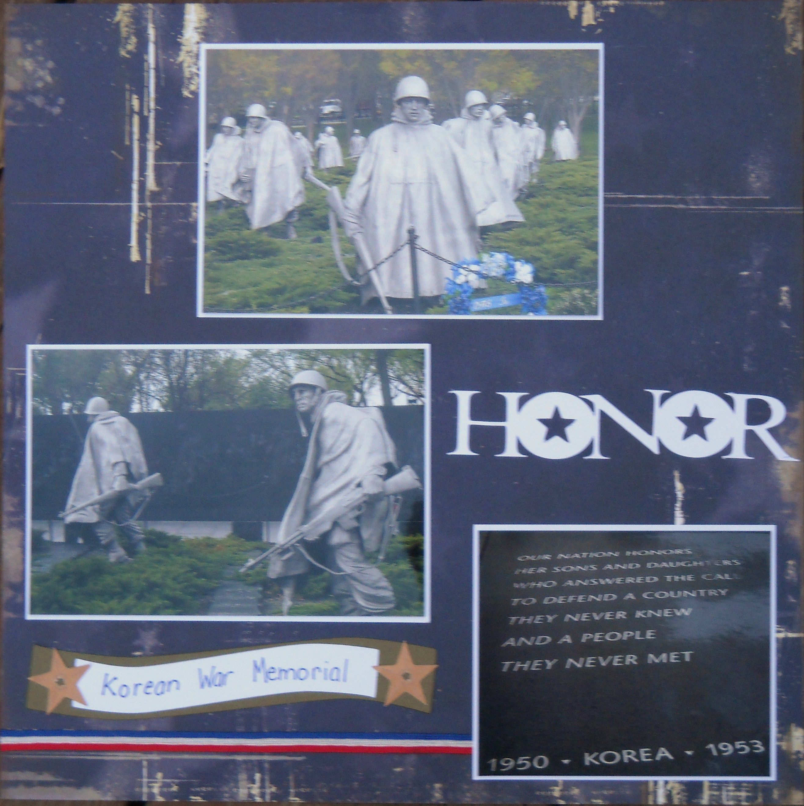 Korean War Memorial Layout Page 1 Scrapbook Com
