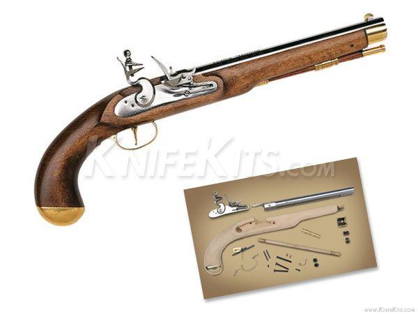 Traditions trapper black powder pistol unassembled kit 50