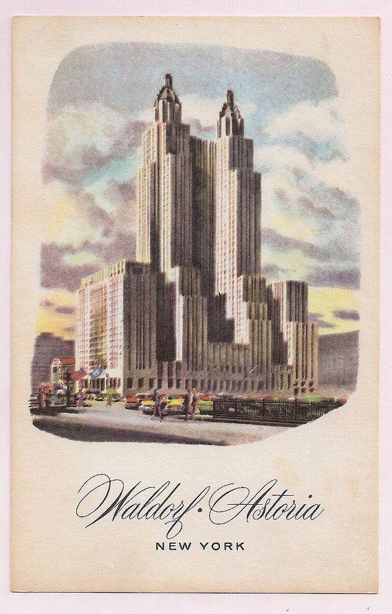 Waldorf Astoria New York City vintage souvenir