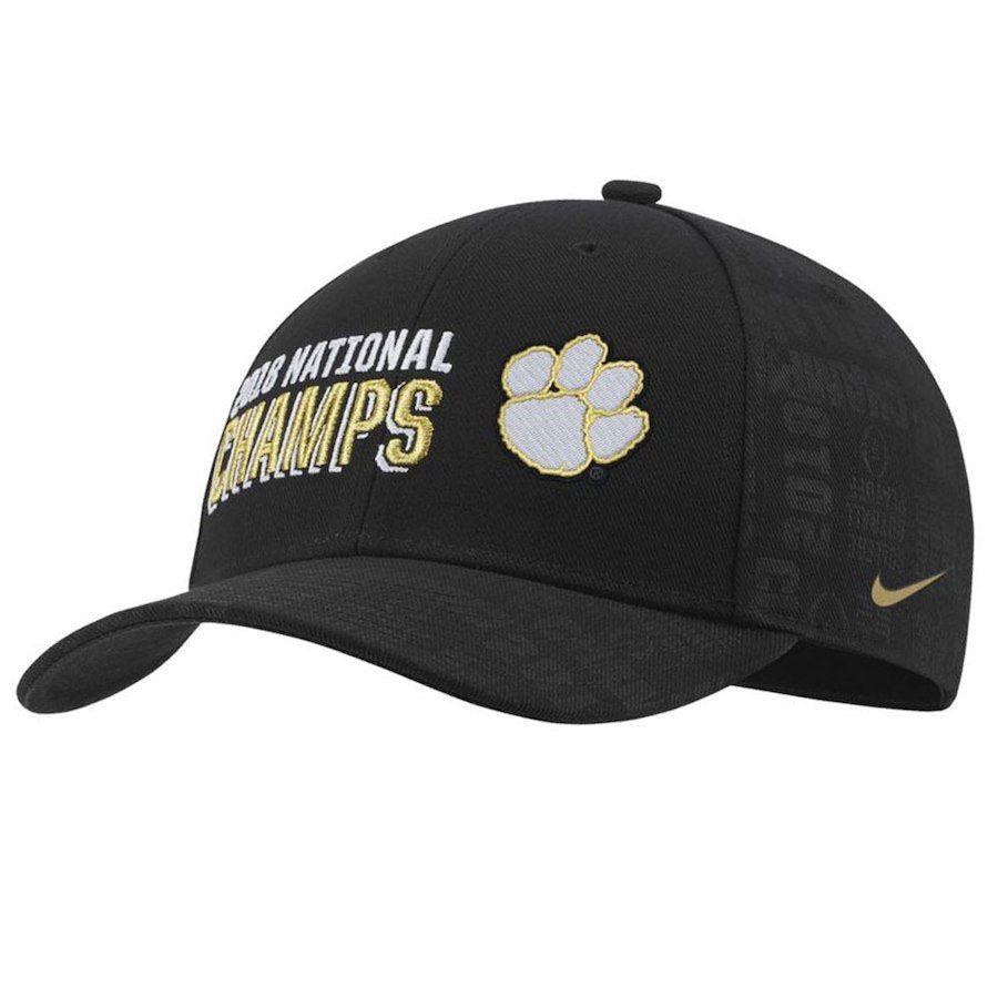 size 40 3b9b2 a21e8 Nike Clemson Tigers 2018 National Football Champions Locker Room Adjustable  Hat (Black)