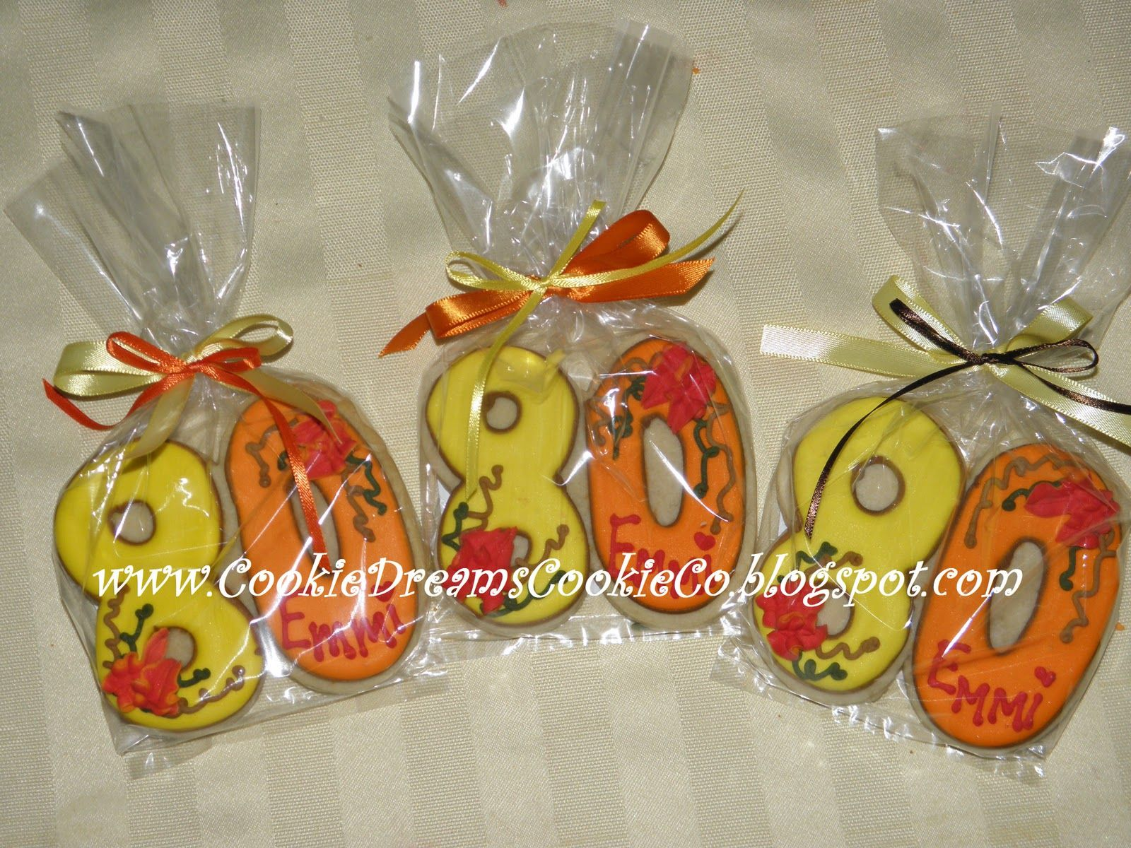 Circus Cookie Favors 80th Birthday Party Favors 80th Birthday