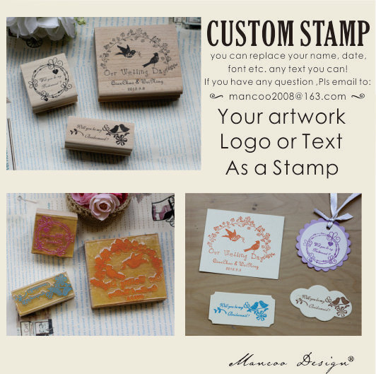 Calligraphy Script Address Stamp Custom Return Self Inking Ru
