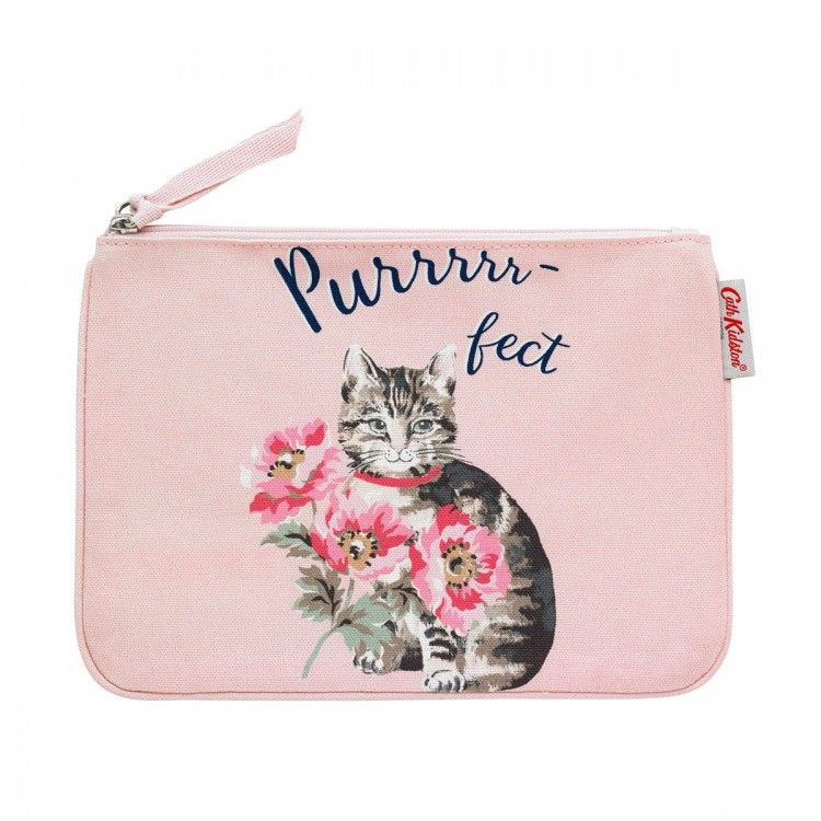 Cat Mouse And Crow Women Leather Long Zipper Wallet Hand Purse