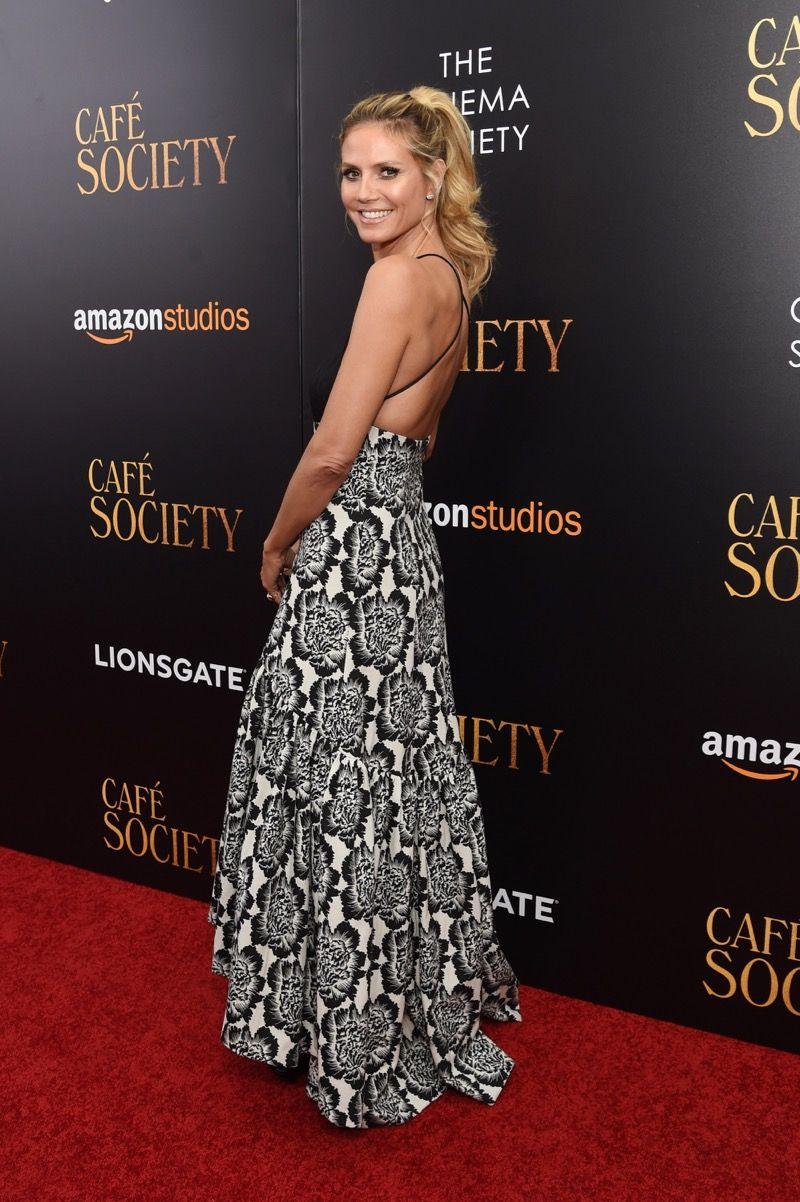Heidi Klum na pré-estreia de 'Café Society' em Nova York