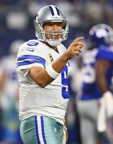 d94c37cf8d6 Tony Romo Photos Photos - Tony Romo  9 of the Dallas Cowboys at AT T  Stadium on September 13