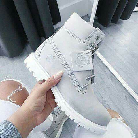 Grey timberland | Boots, Outfit shoes