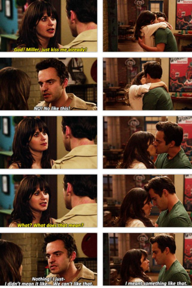 Nick And Jess First Kiss 3 Best Scene On New Girl Ever With