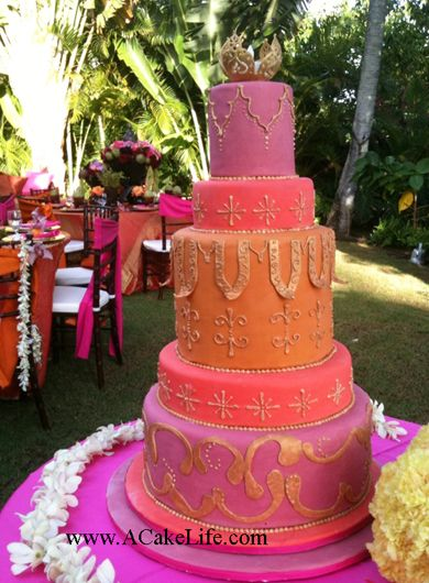 Beautiful Moroccan Themed Wedding Cake