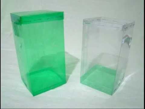 Caja cuadrada hecha con botellas de PET - vídeo completo - Trabajos - trabajos manuales