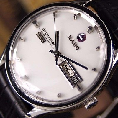 Authentic Rado Daymaster 999 Day Date White Dial Automatic Mens Wrist Watch https://t.co/FmYRBTPSkl https://t.co/Gd5UsU3wwH