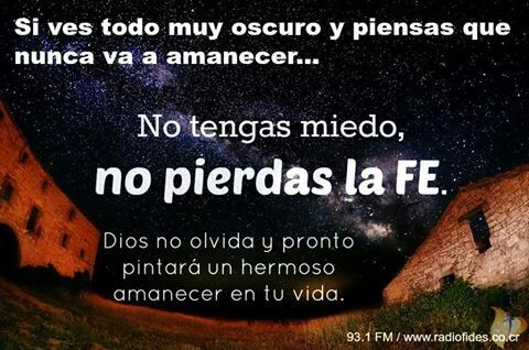 No perder la Fe