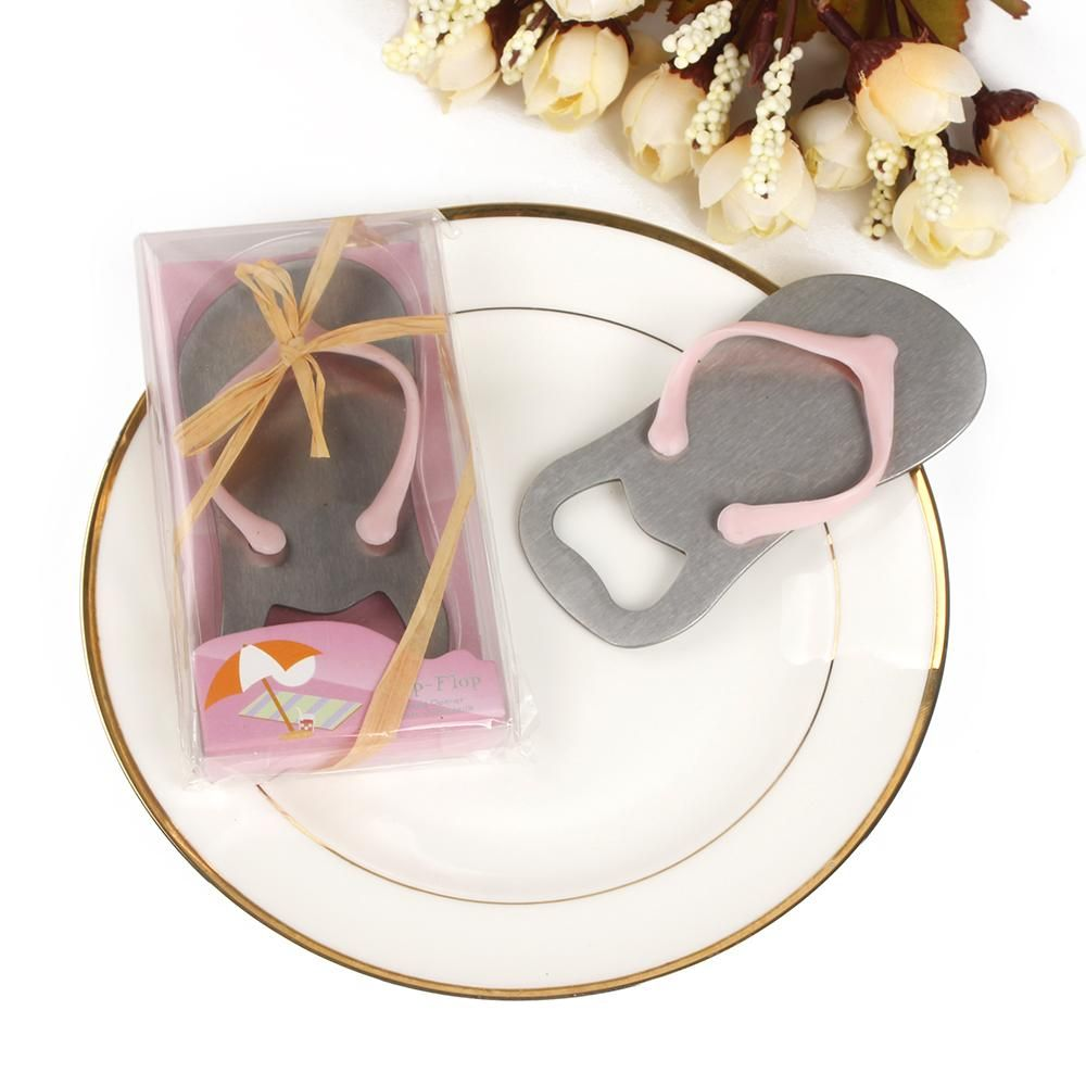 Pink Flip-Flop Sandal Bottle Opener Wedding or Baby Shower Gift ...