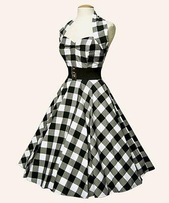Os gusta el vintage de los 50? Vestido Gingham. #vestidos
