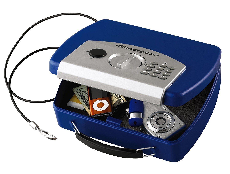 Sentrysafe P008ebl 0 08 Cubic Foot Electronic Compact Safe