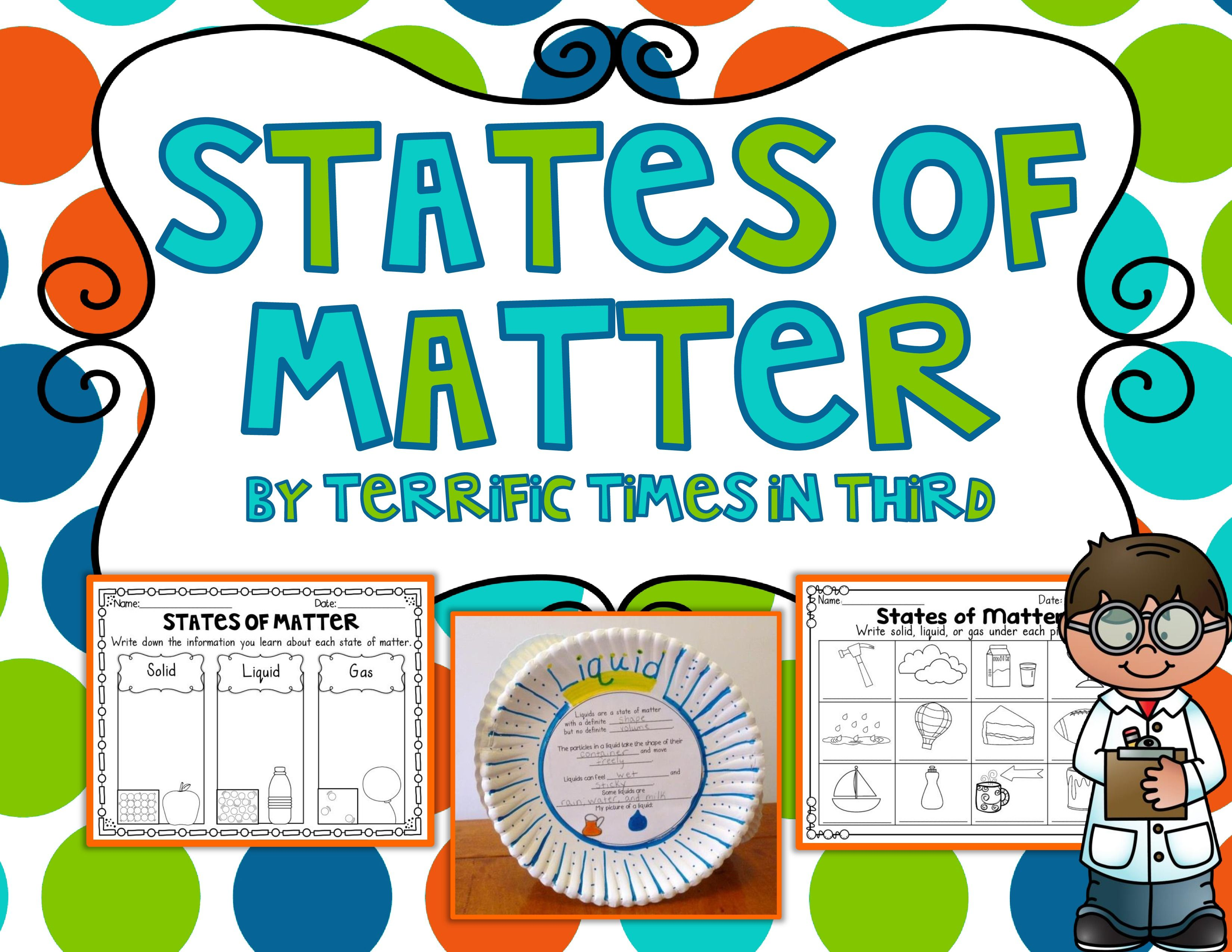 States Of Matter Craftivity And Printables