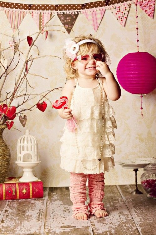 Creative, Fun, Hilariously Adorable, Little Girl Valentines Photo Shoot!