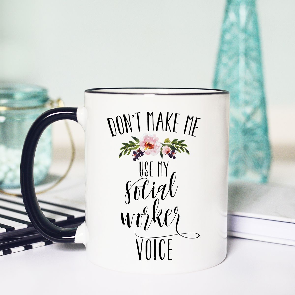 Awesome Social Worker Printed Cup Ceramic Novelty Mug Funny Gift Coffee Tea