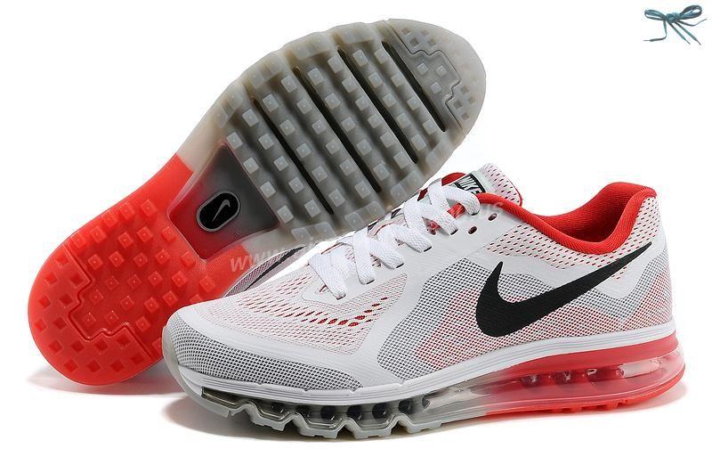 Nike Air Max 2014 White Red Black 621078 501 Mens Shoes