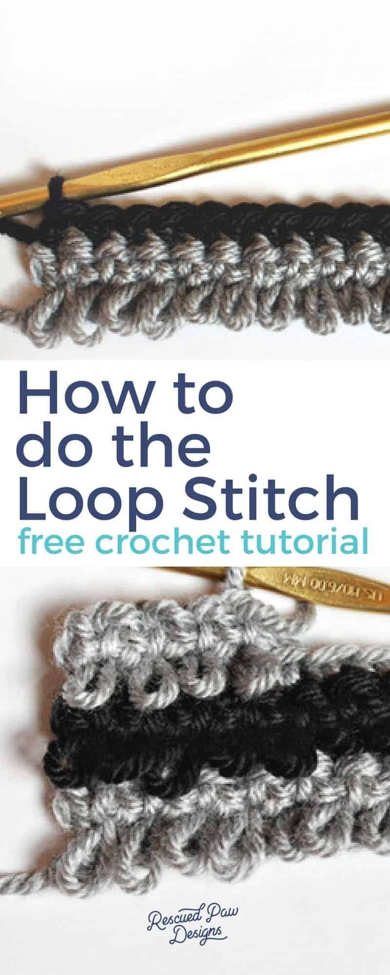 Crochet Loop Stitch Tutorial | Crochet stitches | Pinterest ...