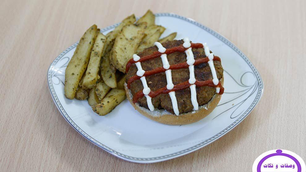 طريقة عمل الهمبرجر بالفول الصويا وصفات و تكات Food Breakfast Waffles