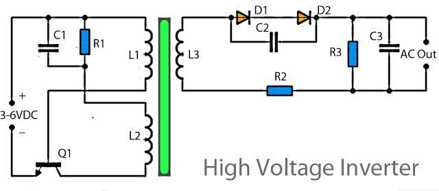 3v To High Voltage Inverter High Voltage Circuit Diagram Electronics Circuit