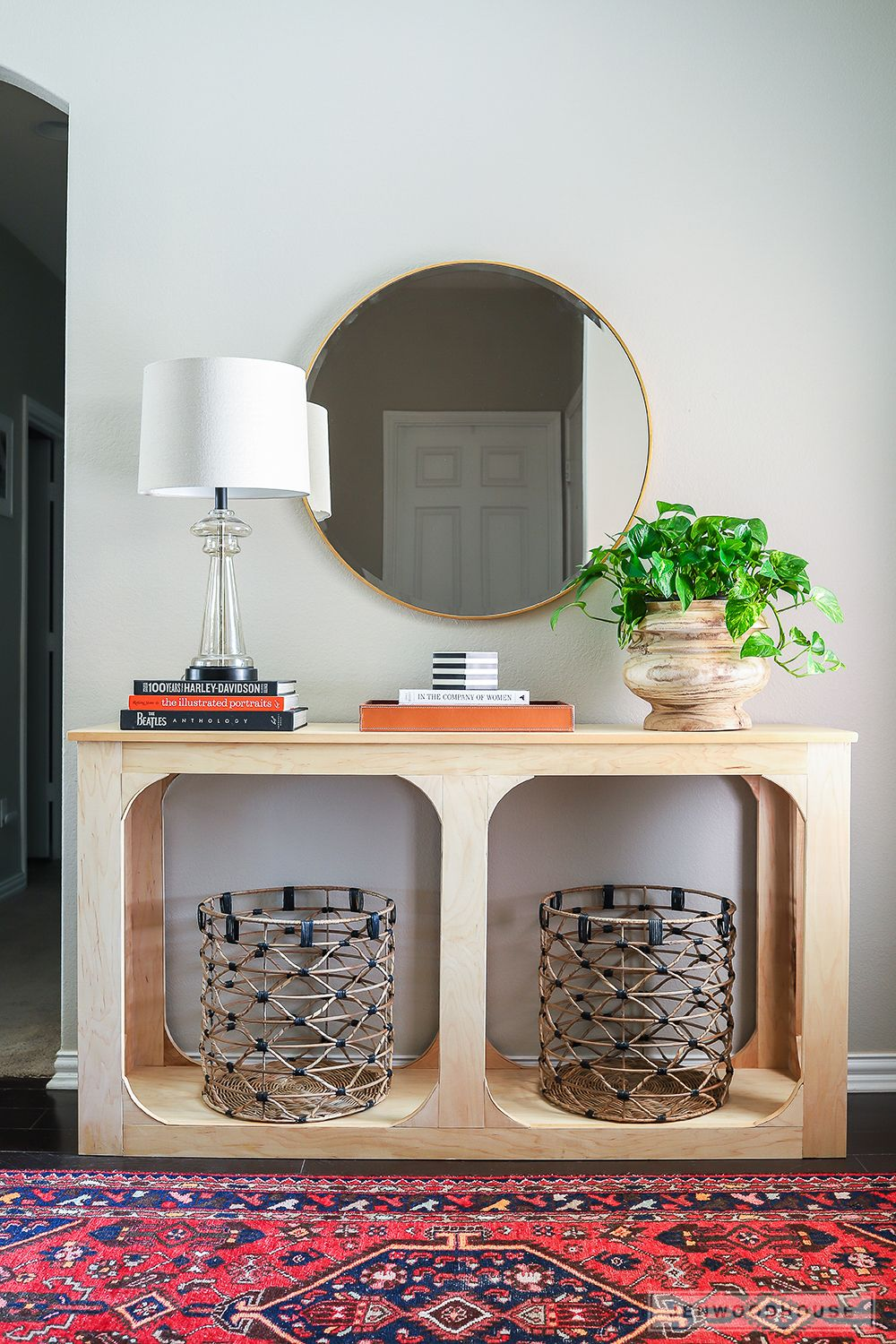 One Sheet Plywood Console Table Diy Entryway Table