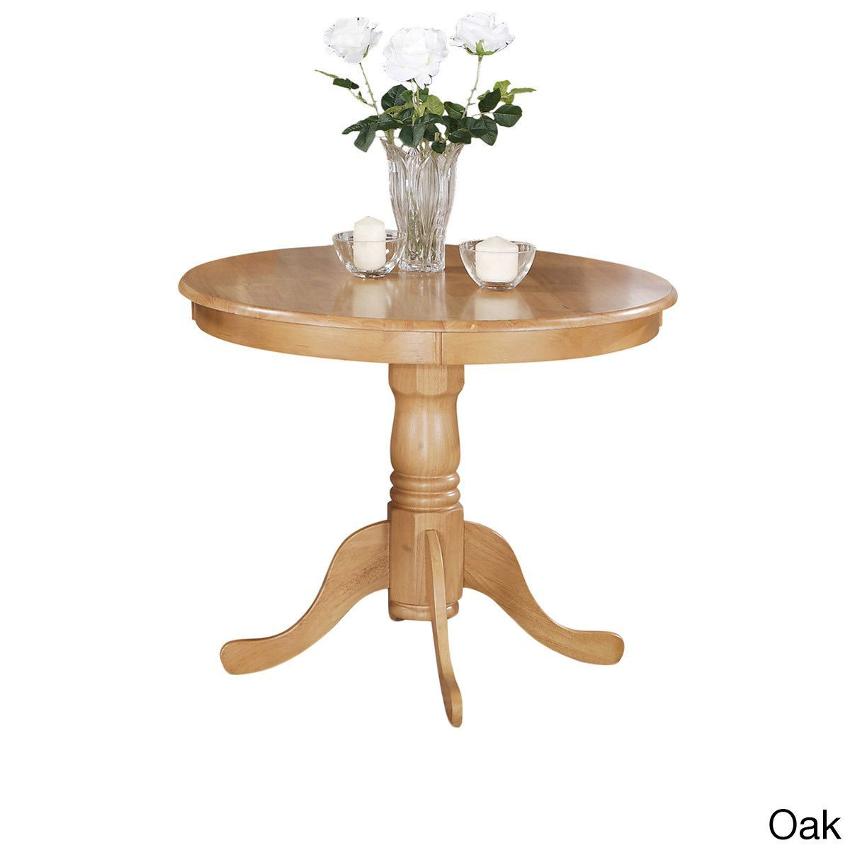 Wood 36-inch Round Antique Table