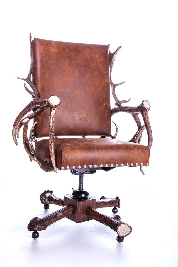 "Model Of Antler fice Chair Teddy Roosevelt Inspired Executive fice Antler Roller Desk Chair The ""nice scale & balance"" on both the desk & chair and ""beautiful Awesome - Lovely rolling office chair Top Design"