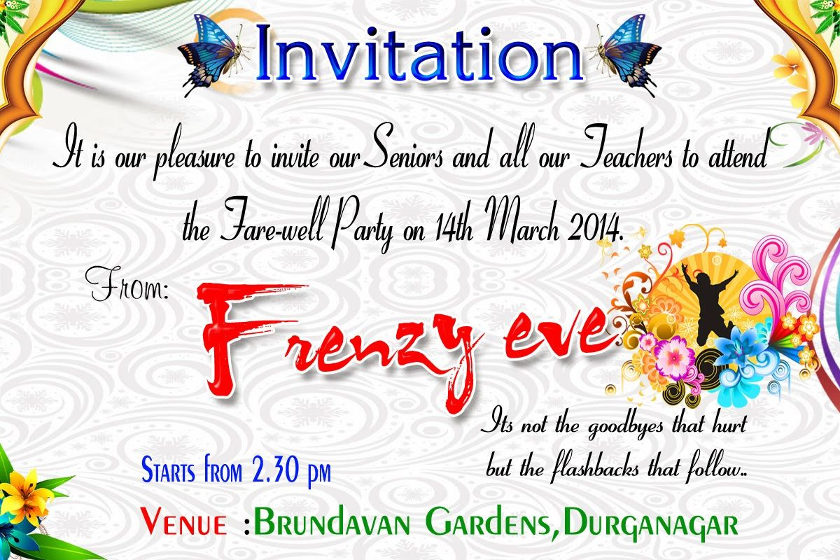 Beautiful Surprise Party Invitation Template Accordingly Cool Article Farewell party