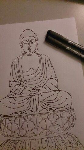 Drawing Buddha With Images Buddha Art Buddha Drawing Art