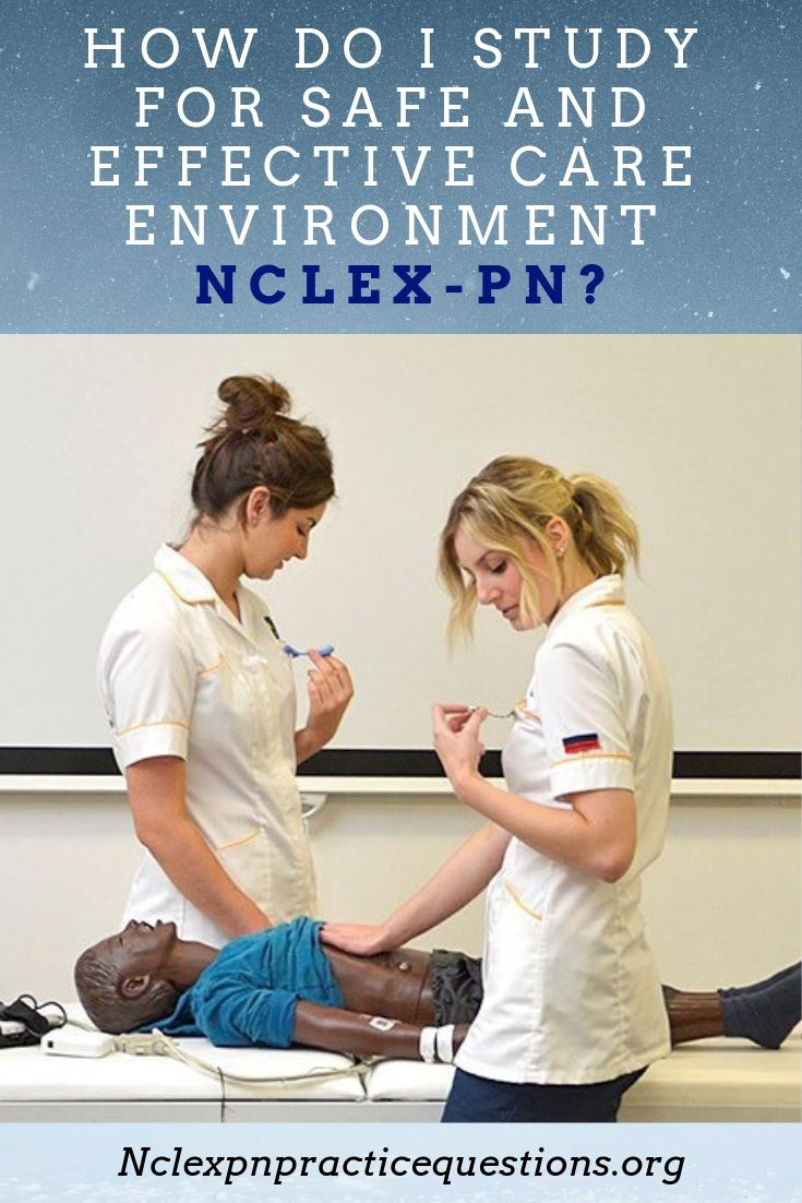 How do i study for safe and effective care environment