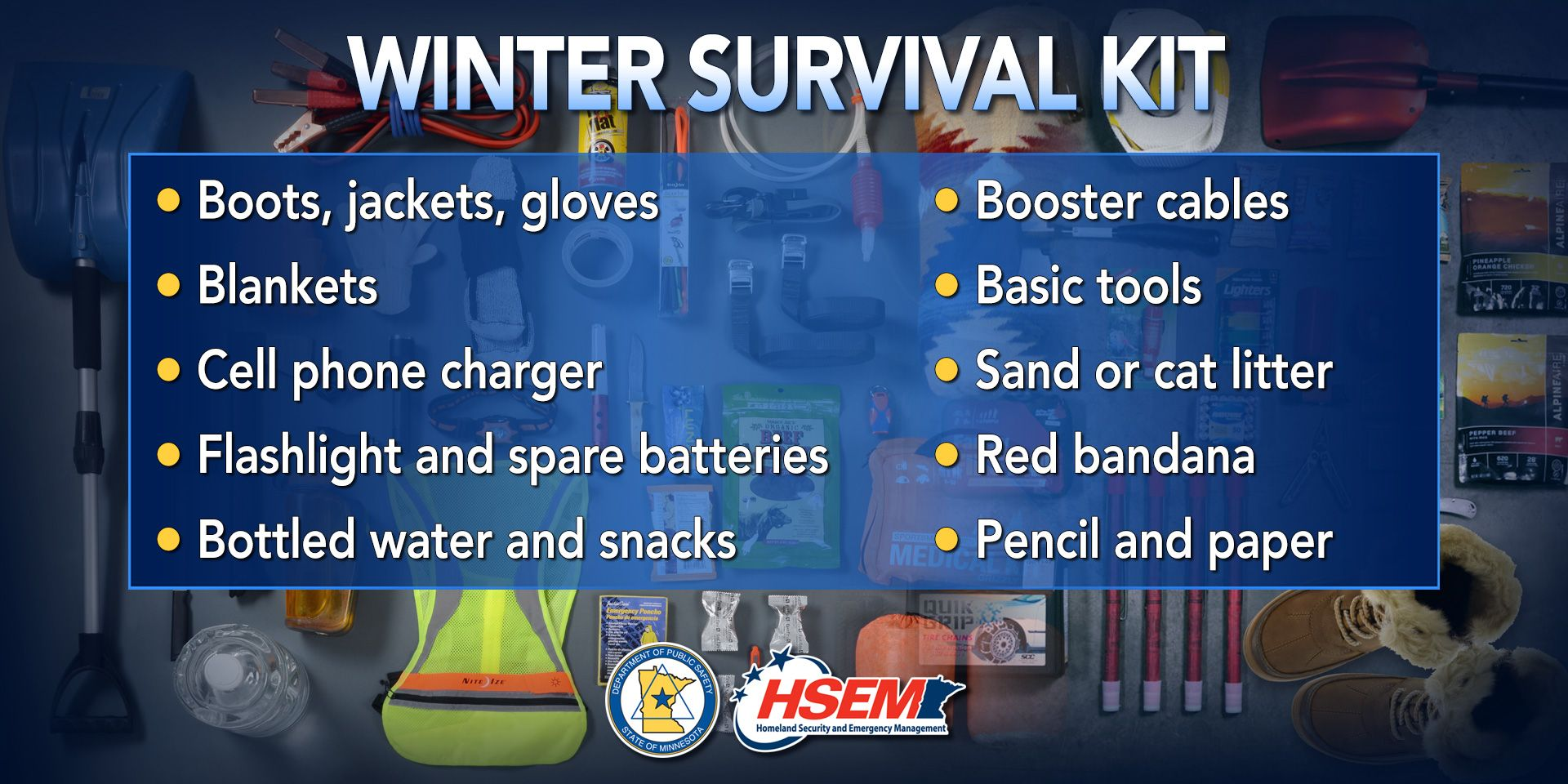 Make sure your car's winter survival kit has these 10