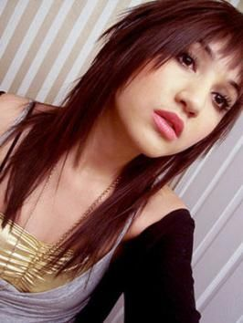 emo girl tapered layer hairstyle emo girl hairstyles pictures