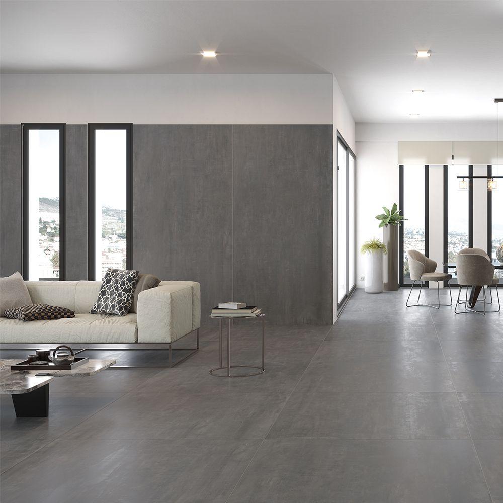 Carrelage Sol Effet Beton 60x60 Titan Century Decoration Salon Moderne Couleur Mur Salon Carrelage Gris Clair