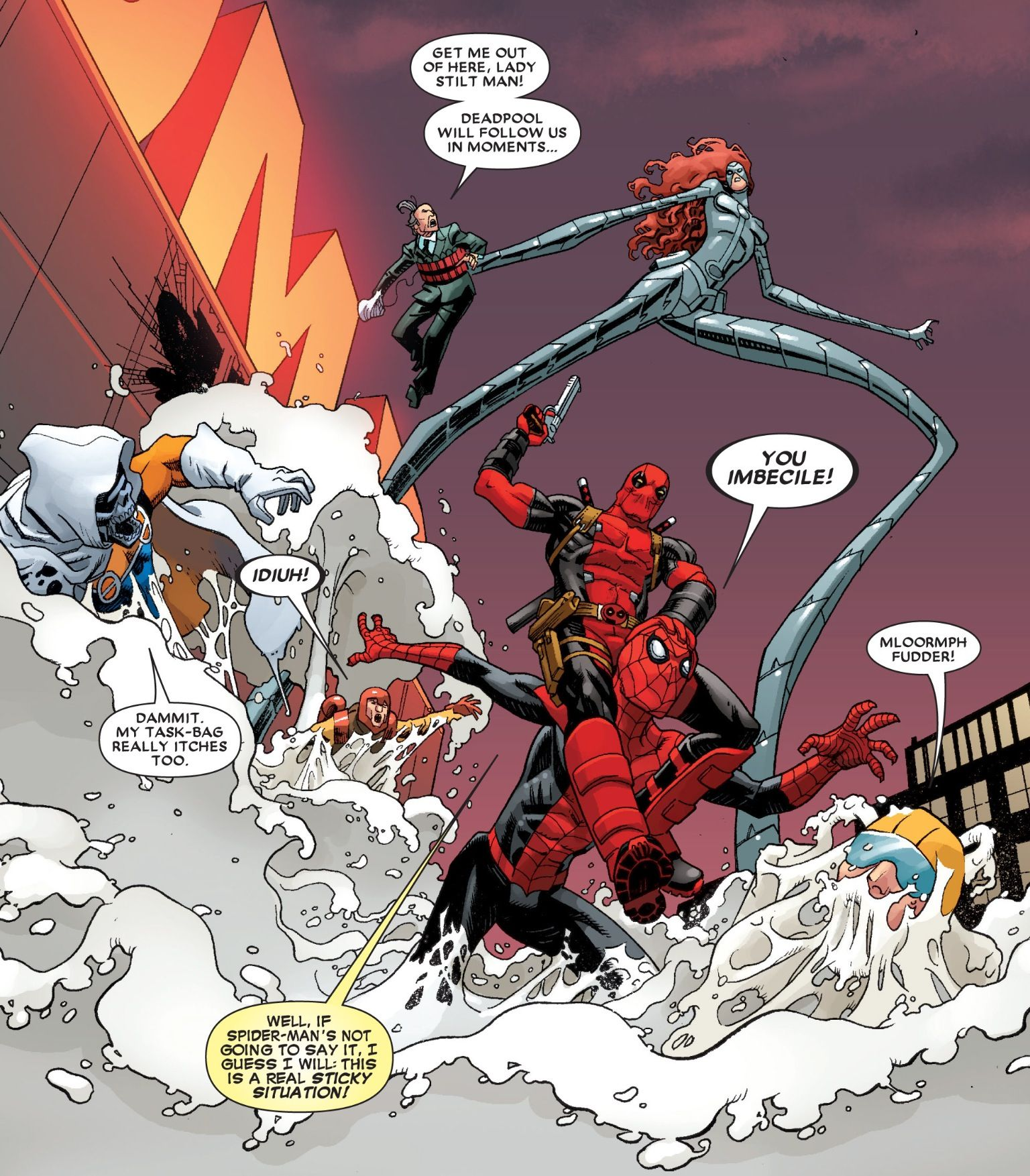 Deadpool, Vol. 4, #10. (2013).  Artist: Mike Hawthorne; Colorist: Val Staples;