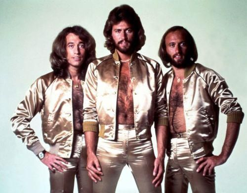 Robin, Barry, and Maurice Gibb or in other words a whole lot of hair!
