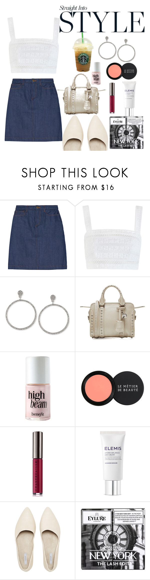 """""""Untitled #318"""" by msbillj ❤ liked on Polyvore featuring A.P.C., Zimmermann, Carolee, Alexander McQueen, Benefit, Le Métier de Beauté, Chantecaille, Elemis and eylure"""