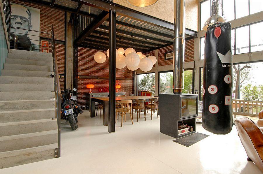 Industrial-dining-room-dining-room-design-ideas-dining-room-decor-interior-design-trends-2017- decorating-trends-2017-loft-design  #loft #industrial #dining #diningroom #room #decor #decoration #design #home #homedecor #homedesign #interiordesign #interior